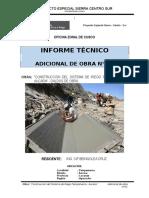 INF. TECNICO ADICIONAL DE OBRA N° 01