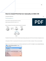 Print Server Install