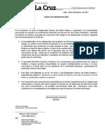 carta  de amonestación