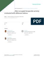 2012,Kurenda, Adamiak,Zdunek - Temperature Effect on Apple Biospeckle Activity