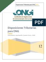 Disposiciones Tributarias Para ONG