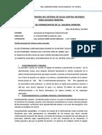 Protocolo de Pruebas Del Sistema Contraincendio de Ok Miroquesada