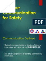 Effective Communication for Safety Oct. 2017