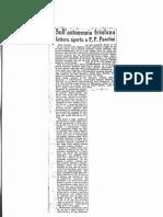 Aa.vv. Sull'Autonomia Del Friulana. Lettera Aperta a P. P. Pasolini (1948)
