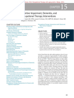 Cognitive Impairment, Dementia, and Occupational Therapy Interventions