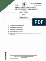CAPE Accounting Unit 1 2009 P2