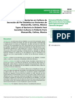 Tipos de Bacterias en Cultivos de Secrecioacuten de Pie Diabeacutetico en Pacientes de Manzanillo Colima Meacutexico