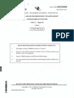 CAPE Unit 2 Literatures in English June 2014 P2