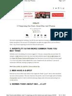15 Surprising Sex Facts About Men A