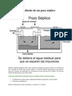Diseño de tanque septico