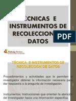 tecnicas e instrumentos de recoleccion de datos