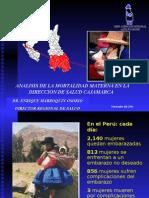 Experiencia DISA Cajamarca Muerte Materna
