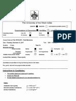 UWI PHYS2671 2017 Sem Final Exam