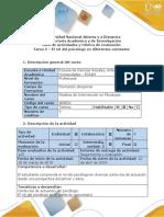 Guía de Actividades y Rúbrica de Evaluación - Tarea 2 - El Rol Del Psicólogo en Diferentes Contextos.docx