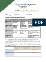 T&M Curriculum Planner