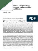 Peter M. Ward -De Clientelismo a Tecnocracia, Cambios Recientes en La Gestión Municipal en México