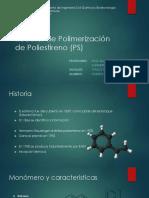 Reactor Polimerizacion Poliestireno (PS)