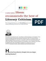 Harold Bloom Recommends the Best of Literary Criticism_FIVE BOOKS_2011