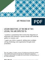 Lesson 11 - Art Production