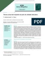 Grupo_2_Tecnica Actual Del Trasplante de Pelo de Unidades Foliculares