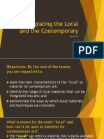 Lesson 10 - Integrating the Local and the Contemporary