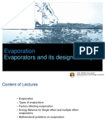 Evoporation Lecture Notes