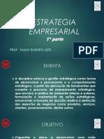Estrategia Empresarial Pós Mack Iª Parte