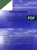Pricing Decisions