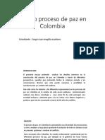 Ensayo Proceso de Paz en Colombia
