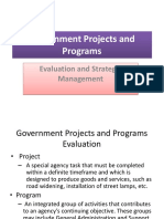 Government Projects and Programs Evaluation and Strat. Mgt.