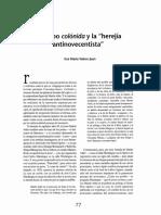 El grupo Colónida y la herejía Antinovecentista.