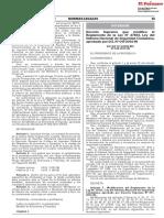 Decreto Supremo que modifica el Reglamento de la Ley N° 27933 Ley del Sistema Nacional de Seguridad Ciudadana aprobado por D.S. N° 011-2014-IN