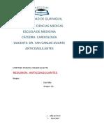 6.Anual.santana Paredes Helen.resumen Anti coagulantes