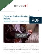 Prayer for Those Awaiting Exam Results