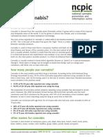 NCPIC Cannabis Fact Sheet 2