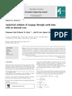 ART.CIENT.SOLUCION ANALITICA.INFILTRACION.EARTH DAM.ALEXANDRIA UNIVERSITY.pdf