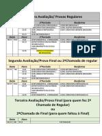 Calendário de Provas 2018.2 Atualizado
