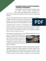 EVIDENCIA 1 Importancia de la Ingeniería Civil cuando se presenta precipitación