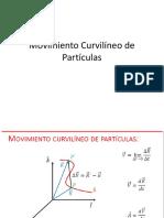 Movimiento Curvilíneo de Partículas 1 Clase