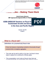 Fiscal Rules – Making Them Work