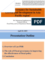Fiscal Governance for Sustainable Growth and Development in Asia Pacific Region