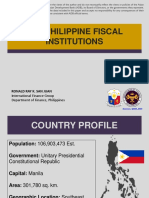 The Philippine Fiscal Institutions