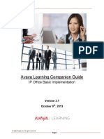 Avaya Learning Companion Guide IP Office Basic Implementation