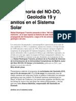La memoria del NO-DO, llega el Geolodía 19 y anillos en el Sistema Solar