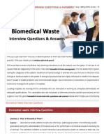 00 Biomedical Waste Interview