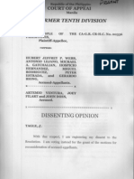 Dissenting Opinion Justice Lucenito Tagle on Vizconde Massacre Court of Appeals G.R. CR HC No. 00336