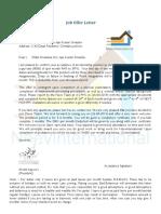 Job Offer letter Neev International