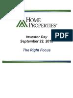 HME Home Properties Sept 2010 Presentation Slides Deck