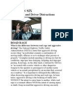 Road Rage and Driver Distractions