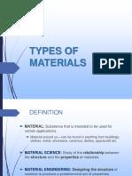 L2 - Type of Materials